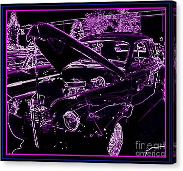 Canvas Print featuring the digital art Plum Perfect by Bobbee Rickard