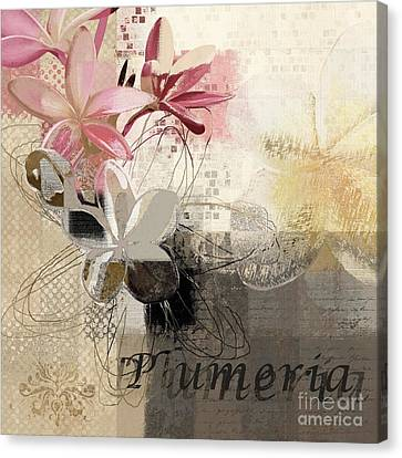 Plumeria - 064073079m3 Canvas Print by Variance Collections