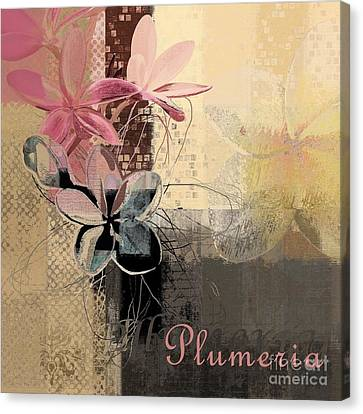 Plumeria - 64-115152167m4t3b Canvas Print by Variance Collections