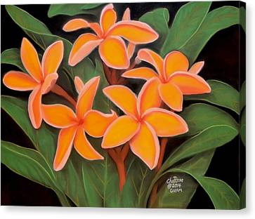 Plumeria No. 4 Canvas Print