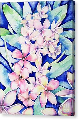 Plumerias Of Maui Canvas Print