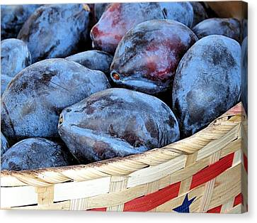Plums For Sale Canvas Print
