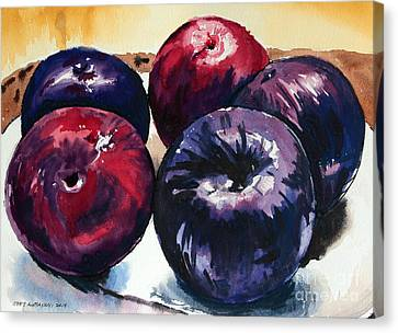 Plums Canvas Print by Joey Agbayani