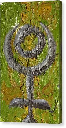 Pluto Glyph Canvas Print by Jeffrey Oleniacz