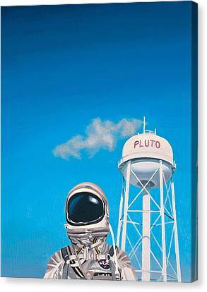 Astronauts Canvas Print - Pluto by Scott Listfield