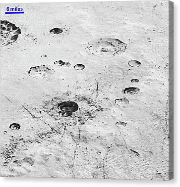 Pluto's Ice Crust Canvas Print by Nasa/johns Hopkins University Applied Physics Laboratory/southwest Research Institute