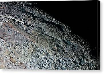 Pluto's Surface Canvas Print by Nasa/johns Hopkins University Applied Physics Laboratory/southwest Research Institute