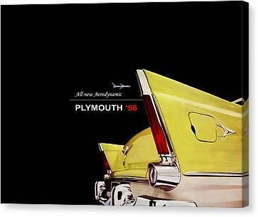 Plymouth '56 Canvas Print by Mark Rogan