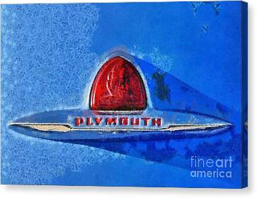 Plymouth Badge Canvas Print by George Atsametakis