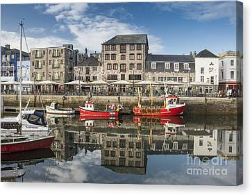 Plymouth Barbican Harbour Canvas Print by Donald Davis