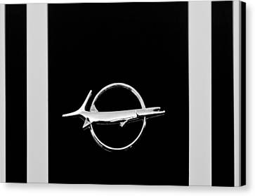 Plymouth Barracuda Emblem -0054bw Canvas Print by Jill Reger