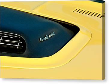 Plymouth Barracuda - Hemi Cuda - Hood Emblem Canvas Print by Jill Reger