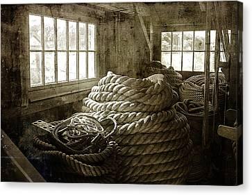 New England Village Canvas Print - Plymouth Cordage Company Ropewalk by Cindi Ressler