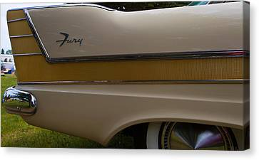 Plymouth Fury Tail Fin Detail 2 Canvas Print by Mick Flynn