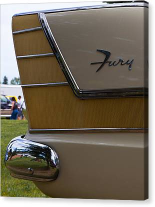 Plymouth Fury Tail Fin Detail Canvas Print by Mick Flynn