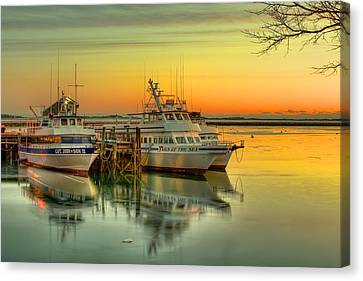 Plymouth Harbor Canvas Print