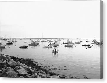 Canvas Print featuring the photograph Plymouth Harbor by John Hoey
