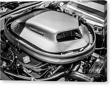 Plymouth Hemi Cuda Engine Shaker Hood Scoop Canvas Print by Paul Velgos