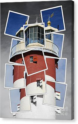 Plymouth Hoe Lighthouse Canvas Print by Donald Davis