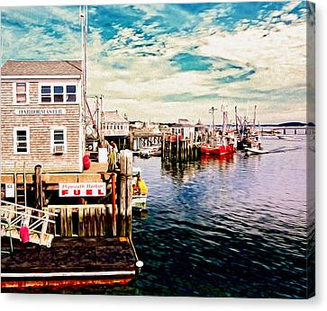 Nautical Canvas Print - Plymouth Ma by Carol Sutherland