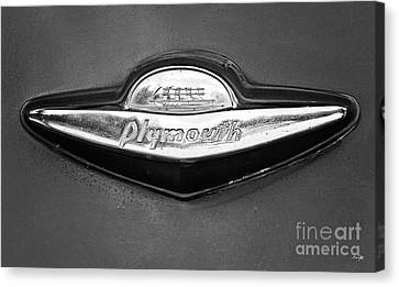 Plymouth Trunk Emblem Canvas Print by Scott Pellegrin