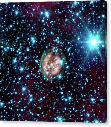 Pmr 1 Nebula Canvas Print by Nasa/jpl-caltech/j. Hora