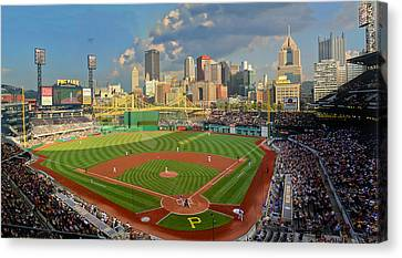 Pnc Park Pittsburgh Canvas Print by Gary Cain