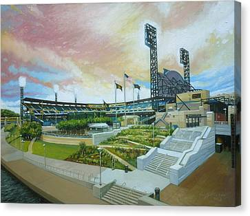 Pnc Park Pittsburgh Pirates Canvas Print by Gregg Hinlicky