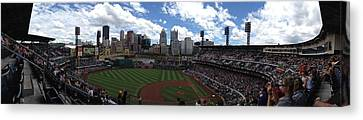 Pnc Park Canvas Print by Shelley Johnsen