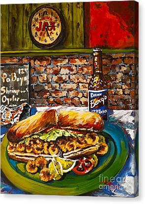 Po'boy Time Canvas Print