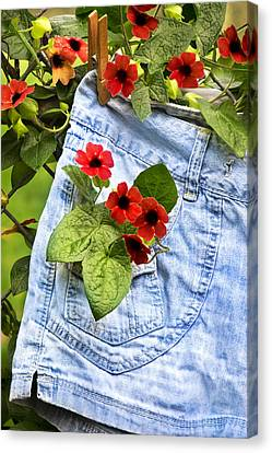 Pocket Full Of Posies Canvas Print by Christina Rollo
