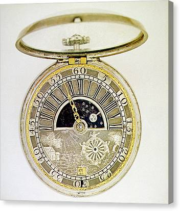 Pocket Watch, C1700 Canvas Print by Granger