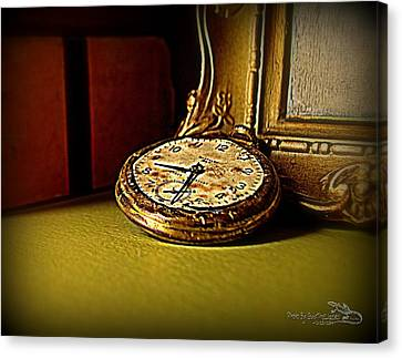 Pocket Watch Canvas Print by Guy Hoffman