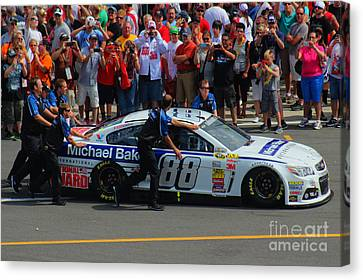 Jr Motorsports Canvas Print - Pocono Sweep 2014 by Tony Cooper