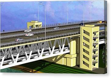 Podilsky Bridge Canvas Print