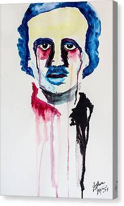 Canvas Print featuring the painting Poe by Joshua Minso