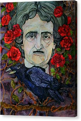 Poe Canvas Print by Stacey Pilkington-Smith