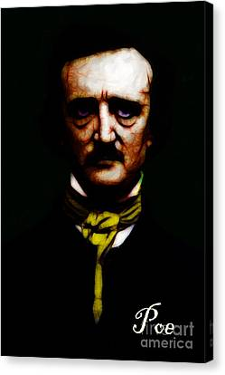 Poe Canvas Print by Wingsdomain Art and Photography