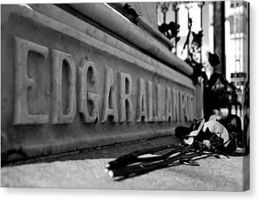 Poe's Grave Canvas Print by Jennifer Ancker