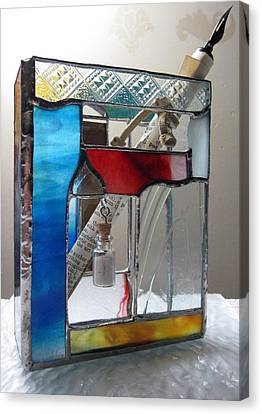 Poet Windowsill Box - Other View Canvas Print by Karin Thue