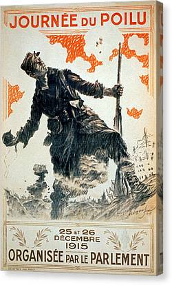 Poilu Day, 1915 Canvas Print by Maurice Louis Henri Neumont