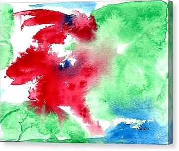 Poinsettia Canvas Print by Alethea McKee