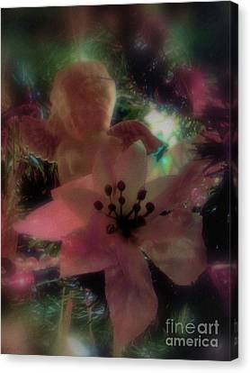 Poinsettia Angel Canvas Print by Roxy Riou