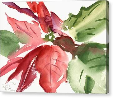 Poinsettias Canvas Print - Poinsettia by Claudia Hutchins-Puechavy