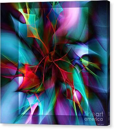 Poinsettia Cool Square Canvas Print