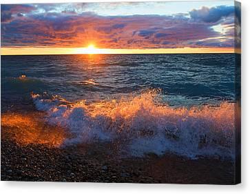 Point Betsie Sunset Canvas Print by Craig Sterken
