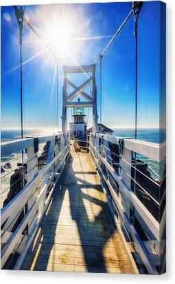 Point Bonita Lighthouse And Bridge - Marin Headlands Canvas Print by Jennifer Rondinelli Reilly - Fine Art Photography