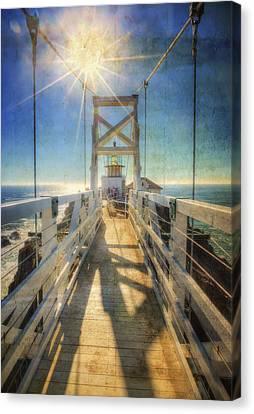 Point Bonita Lighthouse And Bridge 2 - Marin Headlands Canvas Print by Jennifer Rondinelli Reilly - Fine Art Photography