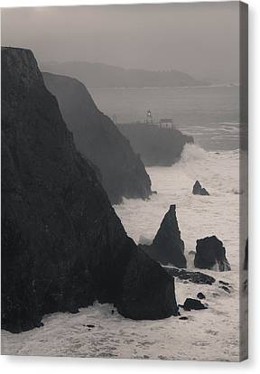 Canvas Print featuring the photograph Point Bonita Lighthouse by Scott Rackers