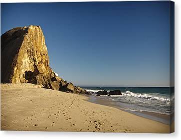 Point Dume At Zuma Beach Canvas Print by Adam Romanowicz